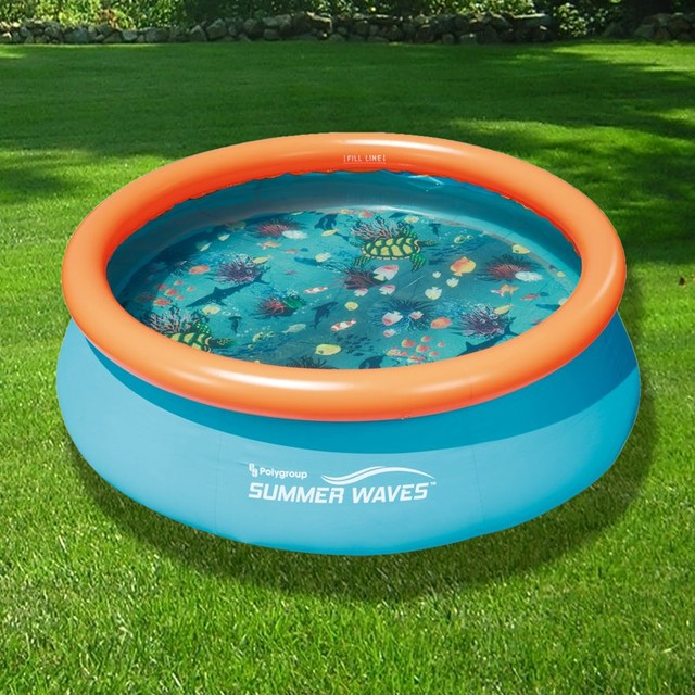 Blue Wave 3D Fast Set Round Family Pool