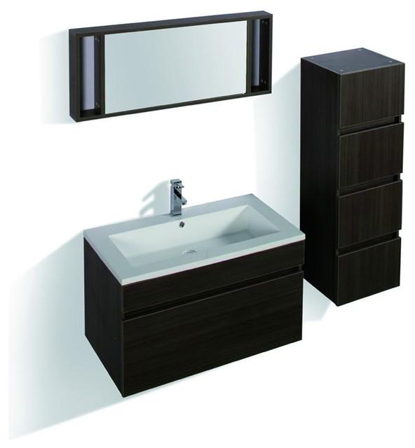 Oviedo Complete Set Modern Bathroom Vanity Units Sink Cabinets Lo