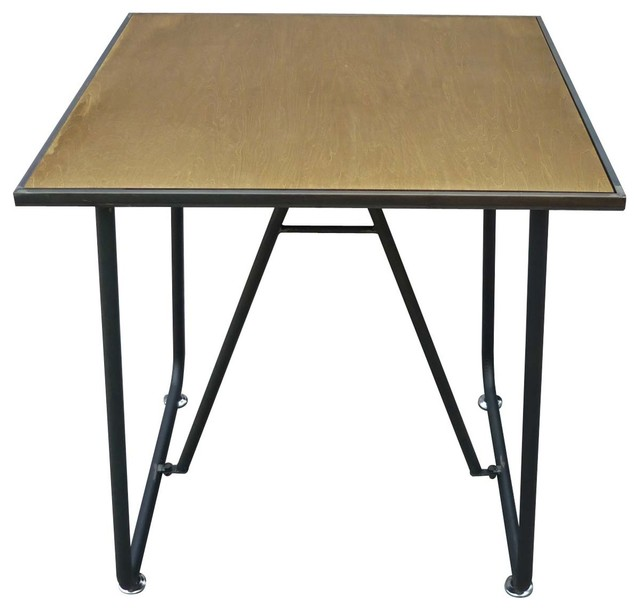 Table vintage carr233e Avior 75x75 Couleur Noir Industrial  : industrial dining tables from www.houzz.com.au size 640 x 610 jpeg 43kB