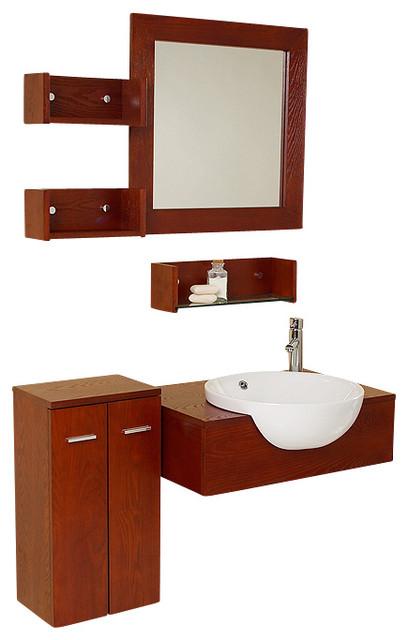 Fresca stile modern bathroom vanity w 3 wall mounted for Decorplanet bathroom vanities