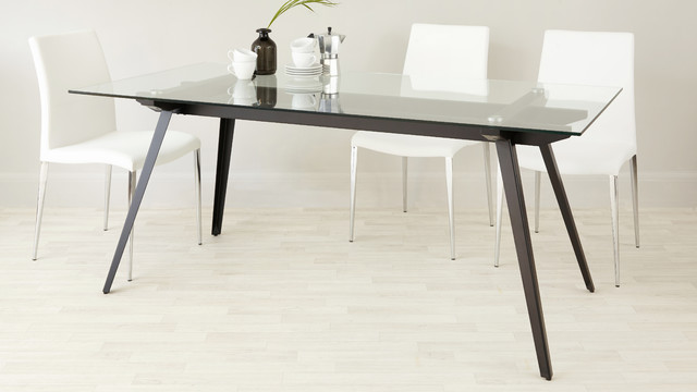 neo 6 to 8 seater glass dining table modern dining