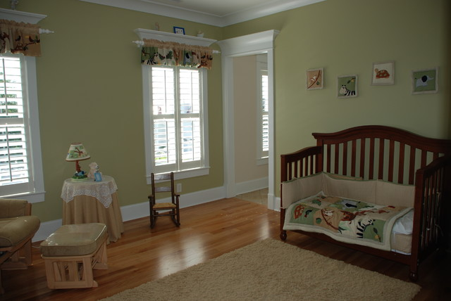 Green Nursery Traditional Kids Charleston By