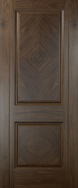 Traditional Doors Walnut 2 Panel Book Matched Veneer Door Traditional Interior Doors