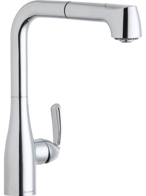 1 5 gpm l spout kitchen faucet chrome contemporary