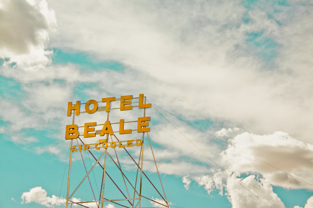 Hotel beale wall mural contemporary wall decals by for Contemporary resort mural
