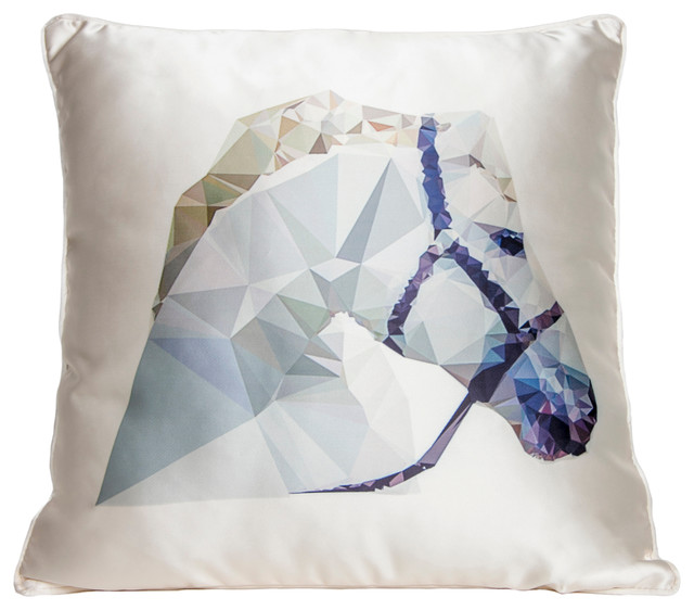 Eclectic Couch Pillows : Horse Couture Throw Pillow - Eclectic - Decorative Pillows - by Interior Illusions