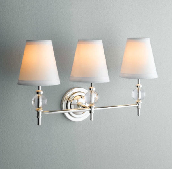Wilshire Triple Sconce - Traditional - Bathroom Vanity Lighting - by Restoration Hardware