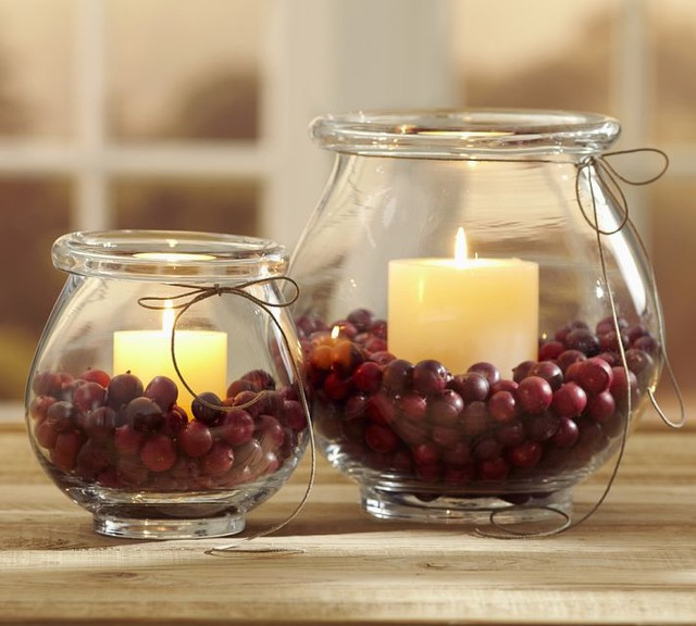 Cranberry vase filler traditional home decor for Artificial cranberries decoration