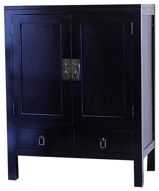 bahut en bois dacajou noir 100 thaki black asian sideboards - Bahut Noir Bois