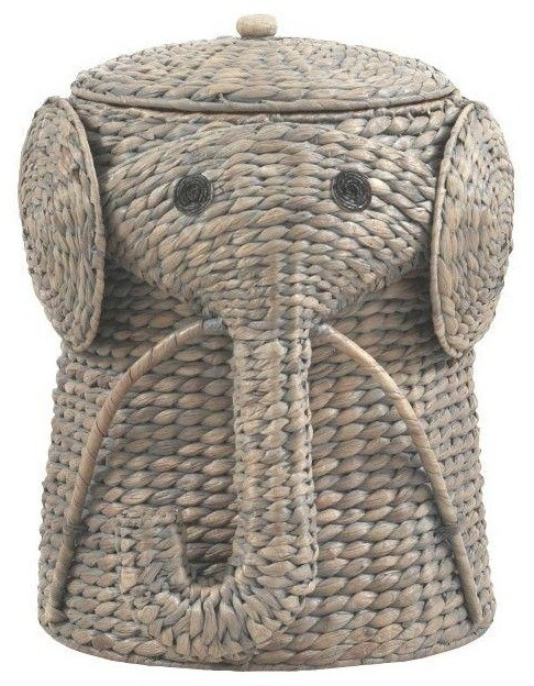 Home Decorators Collection Hampers Animal 16 In W Grey