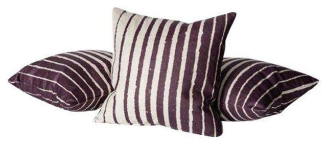Decorative Pillows Retail : Patterned Throw Pillows in Plum - $650 Est. Retail - $325 on Chairish.com