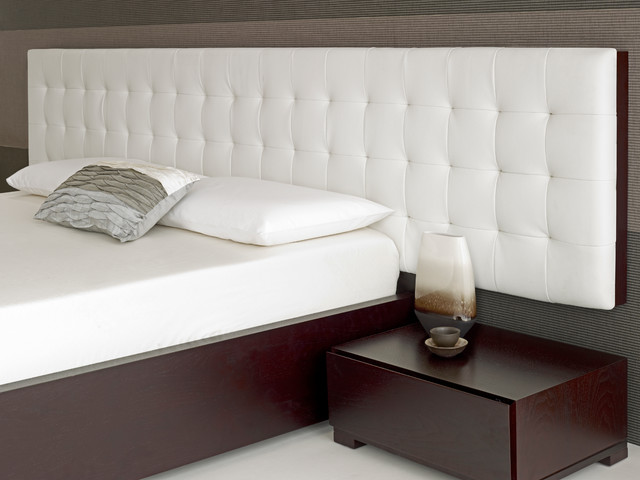 Baltazar Walnut Bed White Headboard Modern Headboards