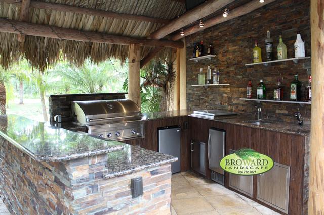 outdoor kitchen tropical patio miami by broward landscape inc