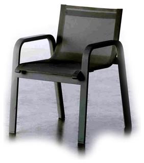 stack gartenstuhl mit armlehnen bauhaus look outdoor. Black Bedroom Furniture Sets. Home Design Ideas