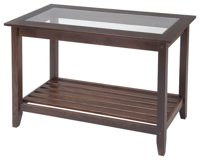 Glass top sofa table by manchester wood traditional side tables and end tables boston by Traditional coffee tables and end tables