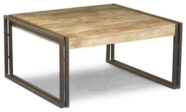 Reclaimed Wood Square Coffee Table Eclectic Coffee Tables San Francisco By Timbergirl