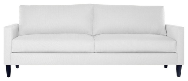 Clark Apartment Sofa Pure White Modern Sofas By Apt2b