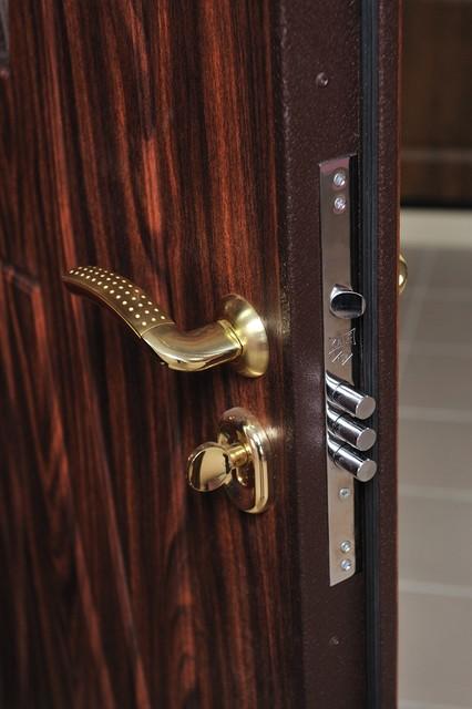 Modern Front Entry Door 3 point Security Lock System - Modern - Door Locks - New York - by Ville ...