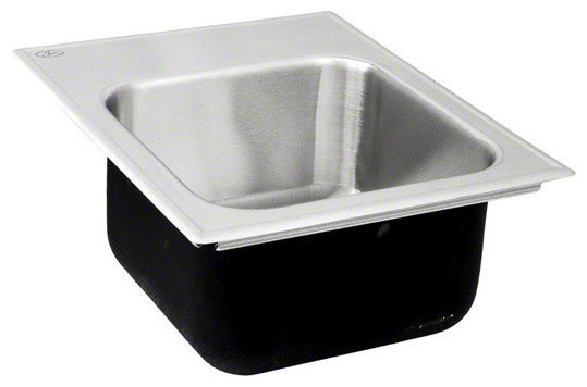 Just Sl 1815 B Gr Stainless Steel Single Bowl Sink