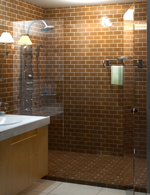 New Earthy Brown Bathroom Tiles Look Awesome With Light Woods And Bring A