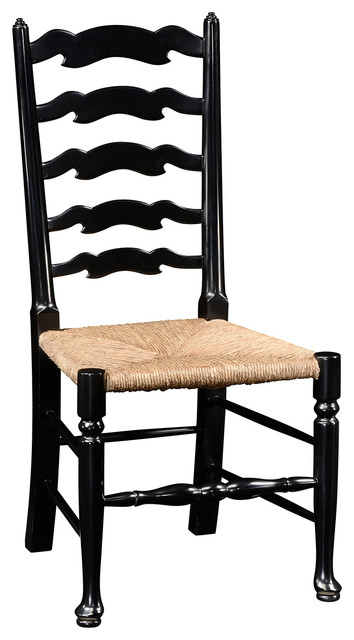 Jonathan Charles Black Painted Ladder Back Side Chair