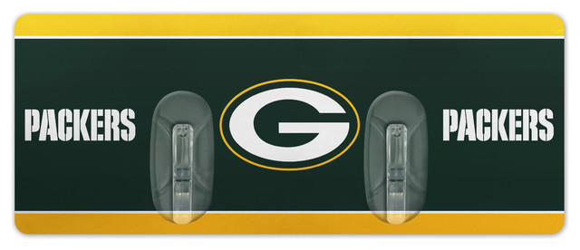 Green Bay Packers Restickable Wall Rack 4 X8 5 Game Room And Bar Decor By Duck House Sports