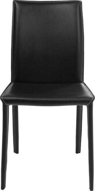 Stuhl milano schwarz modern esszimmerst hle von kare for Design stuhl milano echtleder