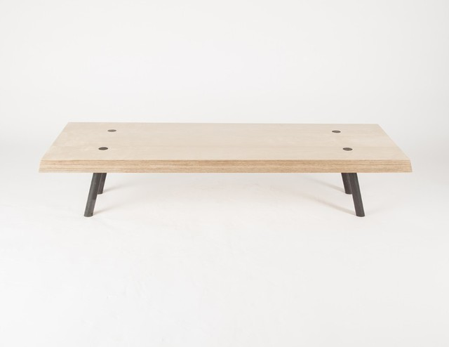 Table basse 39 l 39 acier biseaut e 39 contemporary coffee tables - Table basse design solde ...
