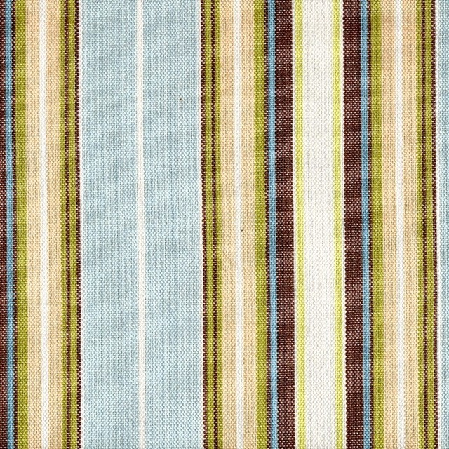 Belmont Seaglass Stripe 63 Rod Pocket Curtain Panels Pair
