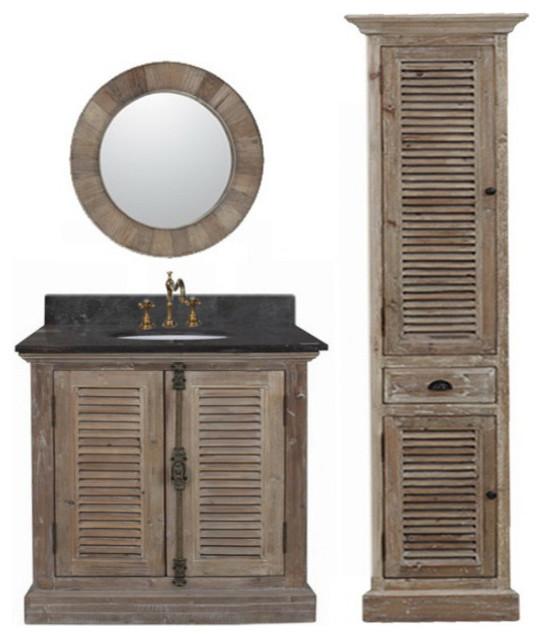 Abel 36 Inch Rustic Single Sink Bathroom Vanity Farmhouse Bathroom Vaniti