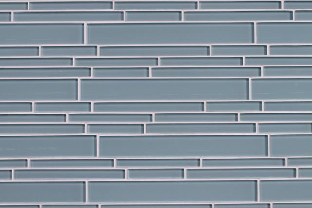 Jasper Blue Gray Strip Glass Mosaic Tiles Contemporary Mosaic Tile