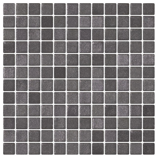 1 Storm Gray Textured Anti Slip Glass Tile Contemporary