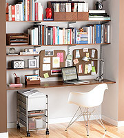 zebrawood platinum elfa home office shelving