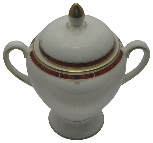 Wedgwood Colorado Globe Shape Sugar Bowl With Lid