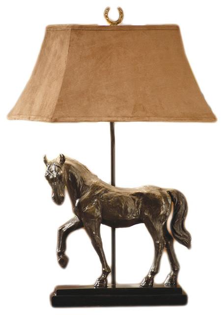 horse creek bronze finished table lamp landhausstil. Black Bedroom Furniture Sets. Home Design Ideas