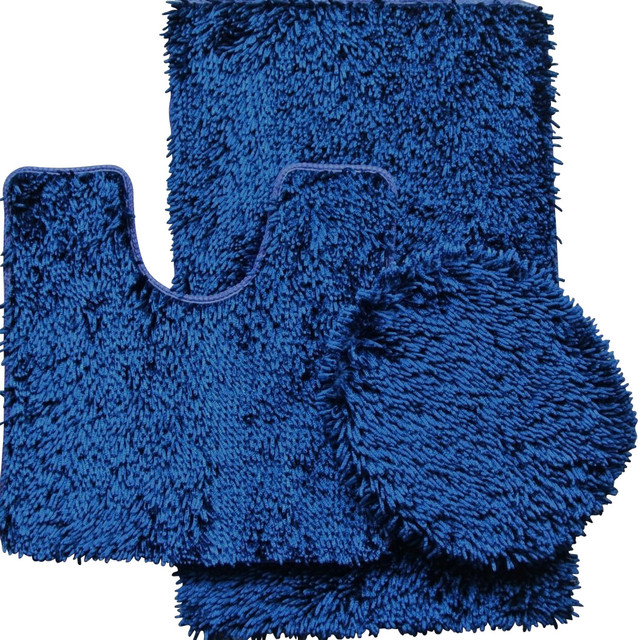 Navy blue bathroom rugs