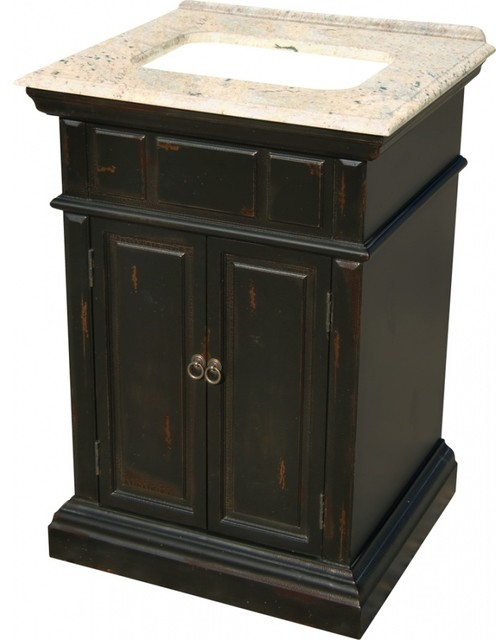 25 inch transitional single sink bathroom vanity
