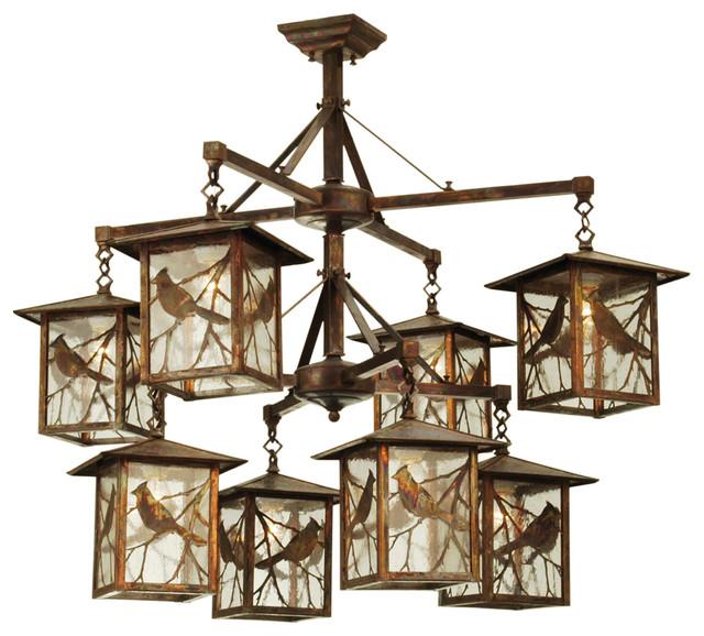 Meyda lighting 42 w seneca song bird 8 lt lantern for Houzz rustic lighting