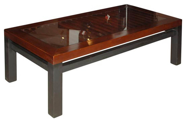 Inja Door Coffee Table Asian Coffee Tables Other Metro By