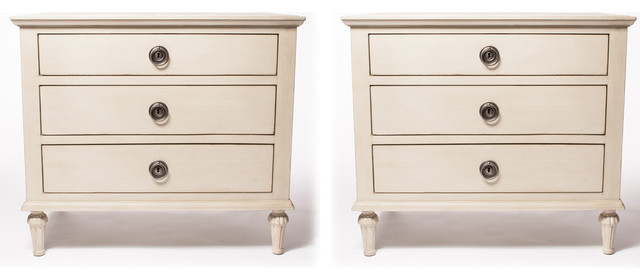 Pair of maision closed nightstands by restoration hardware for Restoration hardware bedside tables