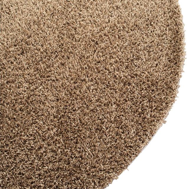 Shag shag area rug contemporary area rugs by rugpal for Round contemporary area rugs