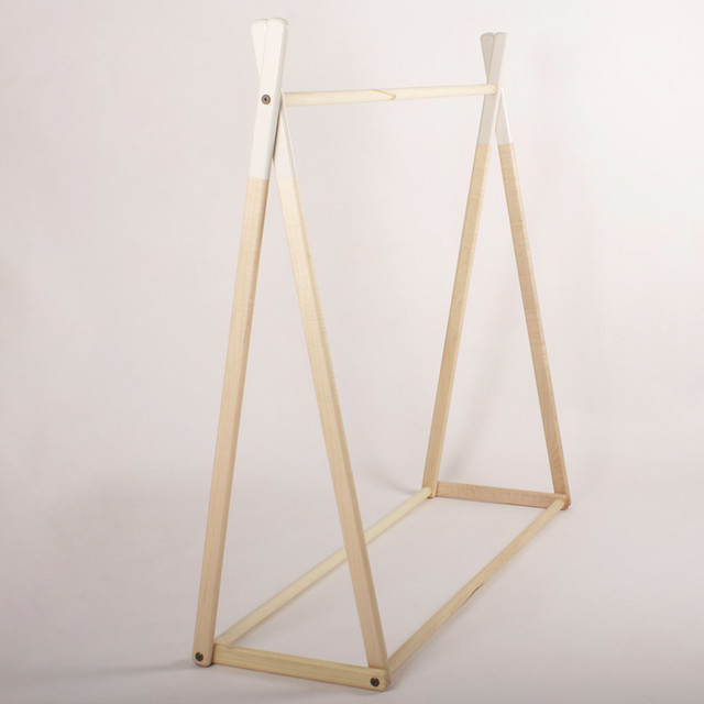 White Alright Clothes Rack Contemporary Racks