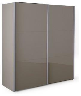Nuvola armoire 2 portes coulissantes taupe laqu contemporain armoire et - Armoire couleur taupe ...