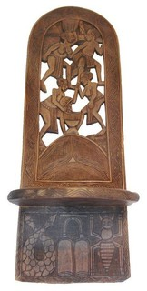 Carved wood african birthing chair modern living room chairs