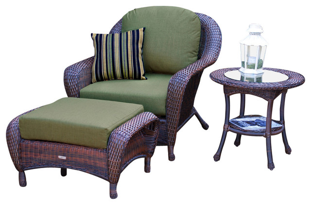 Lexington Chair Ottoman And Side Table Java Montfleuri Sangria Contempo