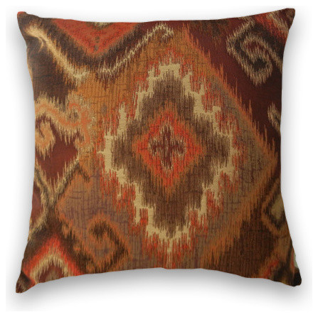 brown red orange kilim throw 18x18 pillow cover with insert traditional decorative pillows. Black Bedroom Furniture Sets. Home Design Ideas