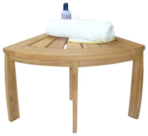 Stool Teak Corner Stool All Teak Wood Contemporary Shower Benches Seats By Teak Deals