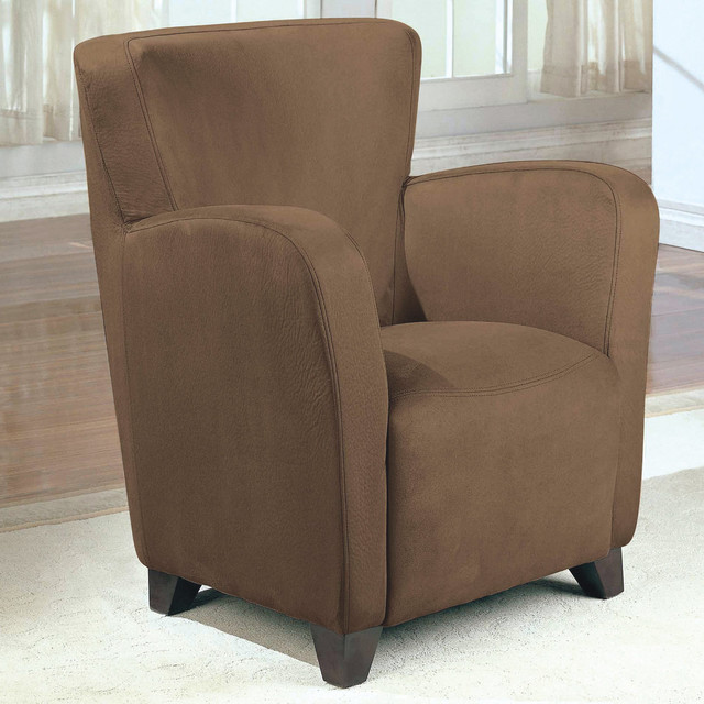 Saddle Padded Microfiber Club Chair Modern Dining Chairs