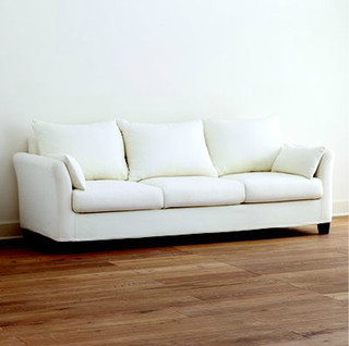 Ivory Canvas Luxe Three Seat Sofa Slipcover Collection