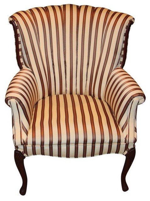 Antique Channel Back Chair Reupholstered modern-armchairs-and-accent ...
